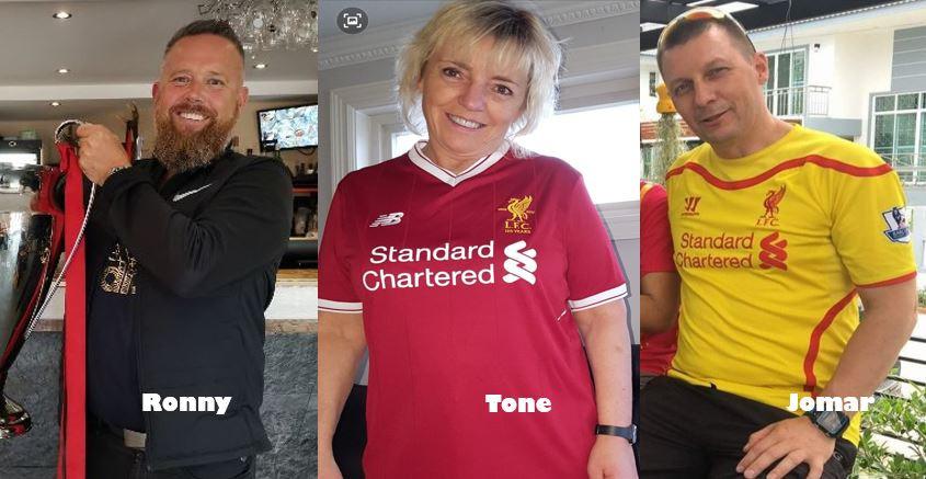 Disse tre supporterne skal på Liverpoolfestivalen. Les mer om dem ved å klikke på bildet!