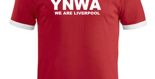 YNWA - We are Liverpool (Rød/hvit/sort)