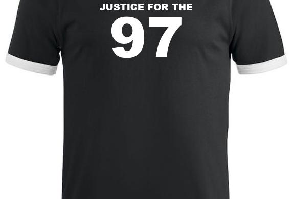 Justice for the 97   (Rød/hvit/sort)
