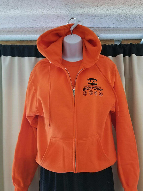 BKM Orange Hoodie - Zip Up