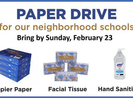 Support neighborhood schools by February 23