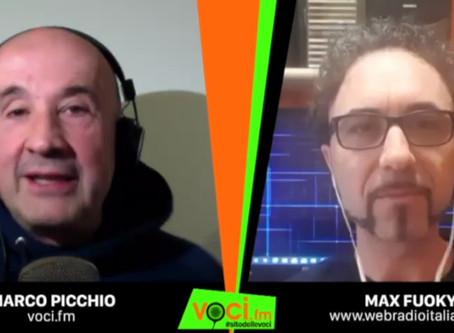"""Max Fuoky intervistato da  Voci.Fm  """"Flash Mob delle Web Radio d'Italia."""