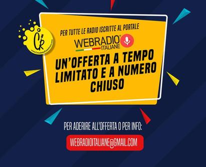 Offerta imperdibile per tutte le Radio iscritte a WEB RADIO ITALIANE ❗❗❗❗❗❗