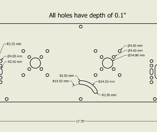 Side Plate CAD Dimensioning Sketch