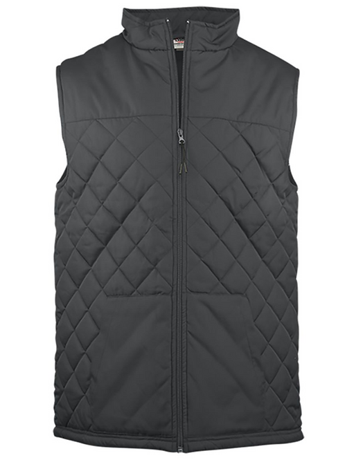 Badger LADIES quilted vest w/EP Logo embroidered left chest XXL