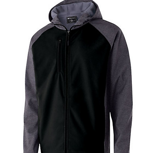 Mens/Adult Soft Shell Hooded Jacket - Black