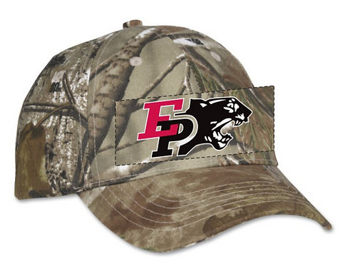 Camo adjustable hat with logo