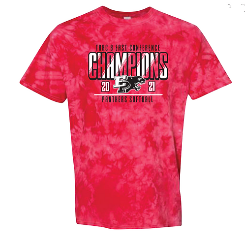 Red Tie Dyed Conference Championship T shirt - XXL - XXXL