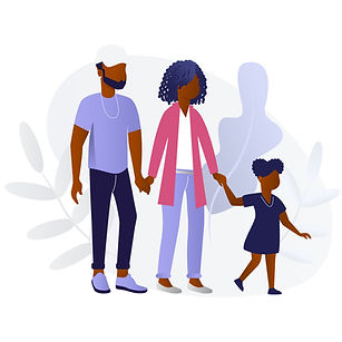 Black Family - Mom, Dad and Daughter A.j