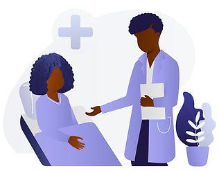 Black doc and patient