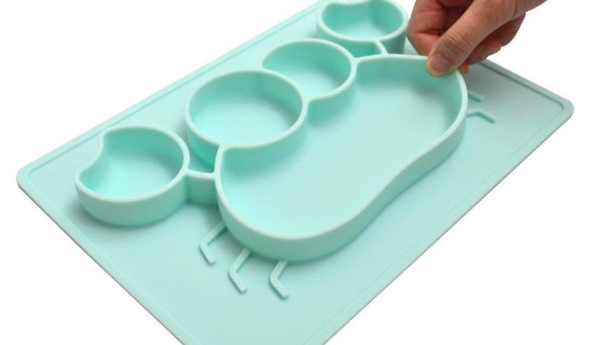 CustomFood Grade BPA Free Silicone Baby Placemats