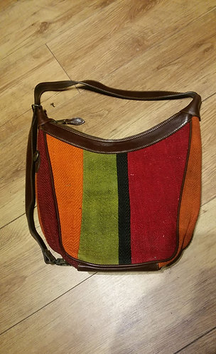 "Tapestry Horseshoe Bag 12"" x 13"" x 5"""