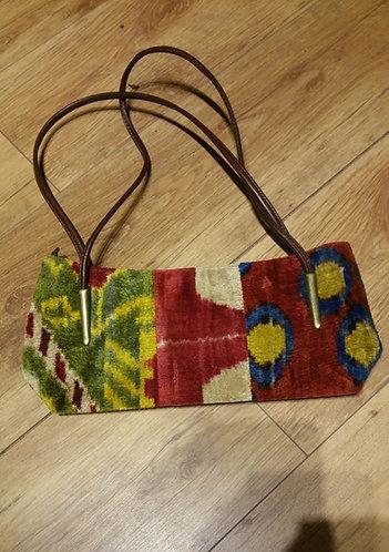 "Tapestry Evening Bag silk 13"" x 6"" x 3"""