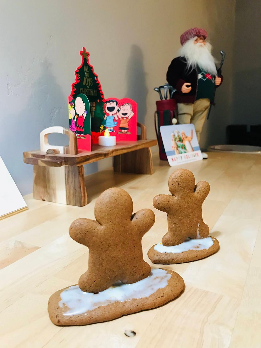 gingerbread surfer cookies