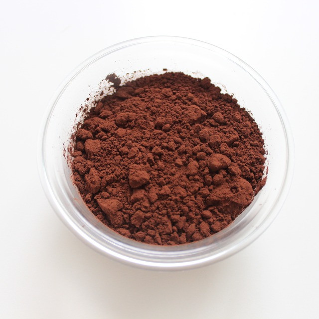 bowl of unsweetened cocoa powder