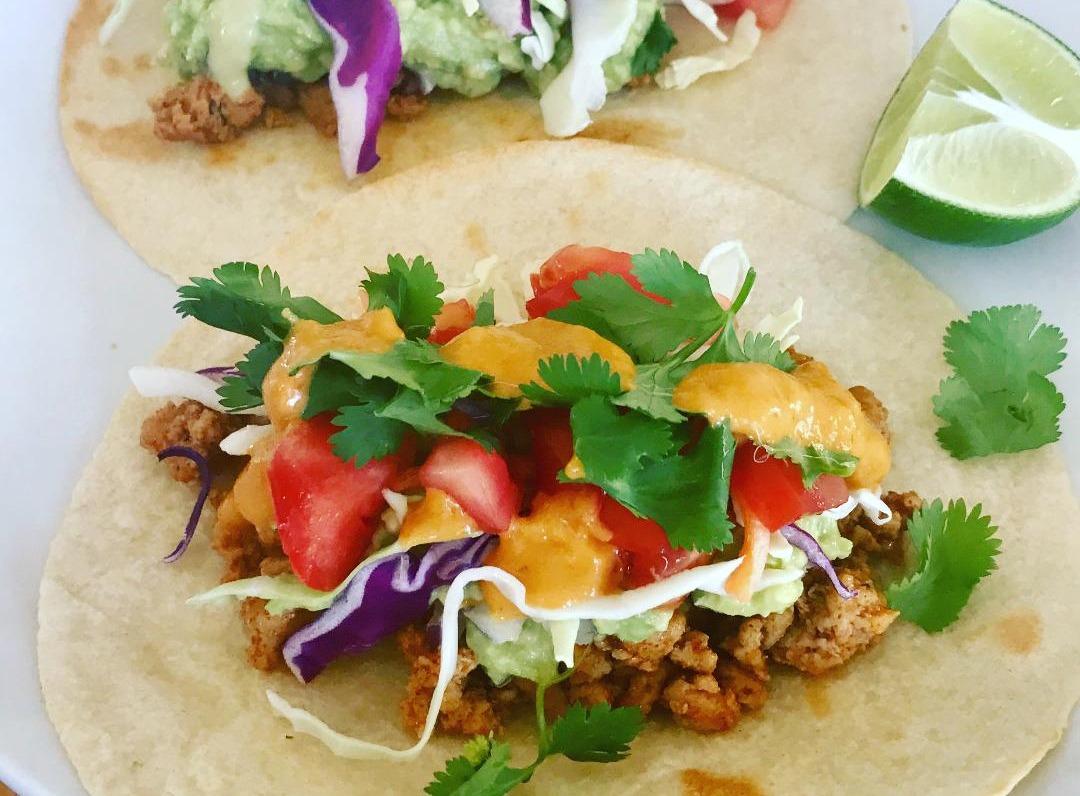 Cheesy Lentil Tacos