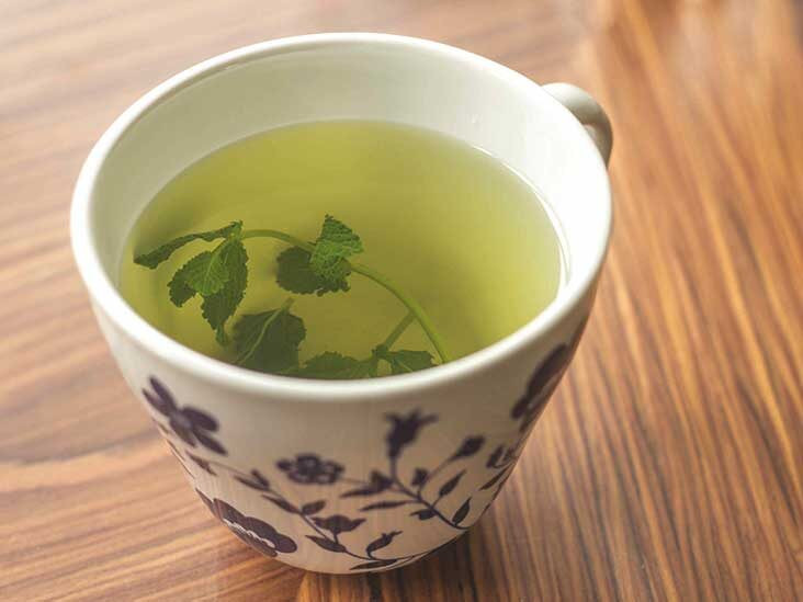 Peppermint tea may help with digestive upset.