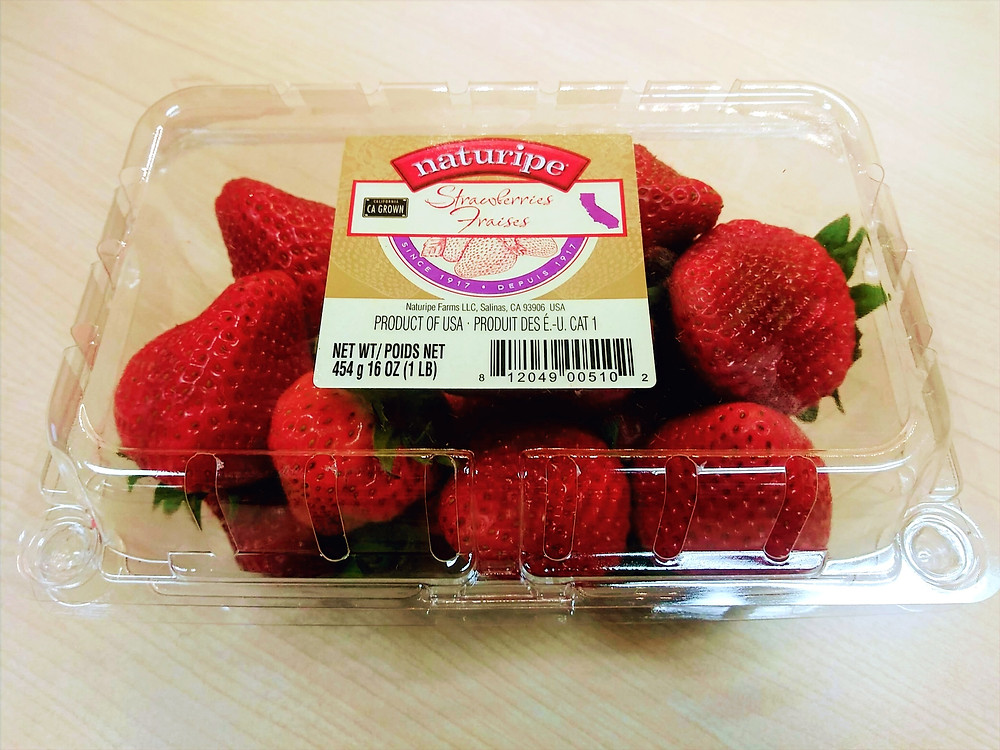 strawberry clamshell