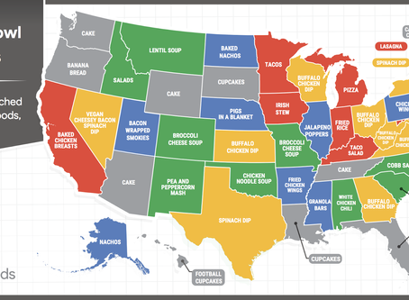 What's the most popular Super Bowl Food in your state?