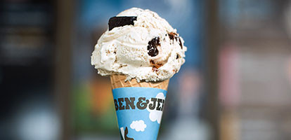 Ice cream cone. Eat your treat after you've nourished your body.