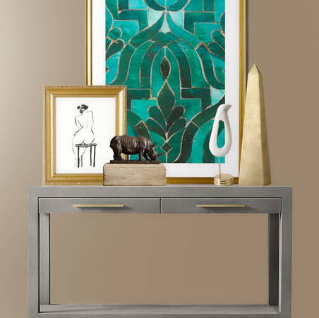 How to Arrange Frames Over a Console Table
