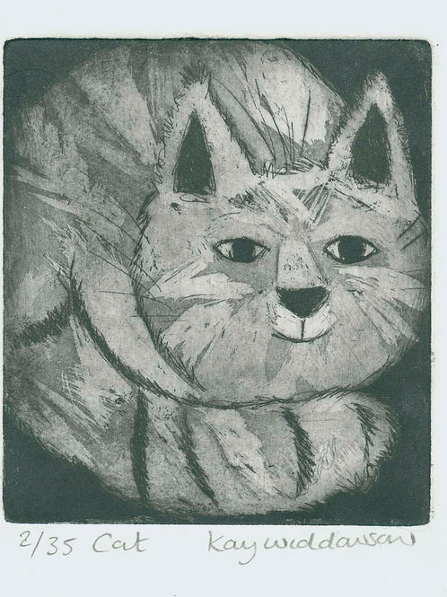 Cat - Aquatint and Drypoint Etching