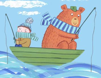 Boy and Bear in a Boat - Kay Widdowson.j