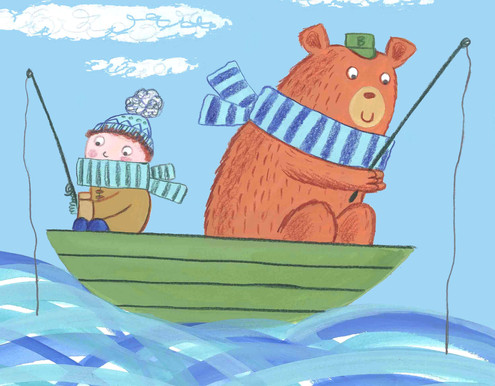Boy and Bear in a Boat - Kay Widdowson.j