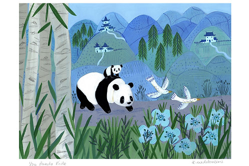 Panda Ride - Limited Edition Colour Print