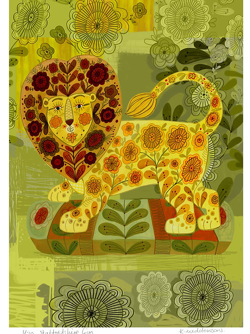 Staffordshire Lion - Limited Edition Colour Print