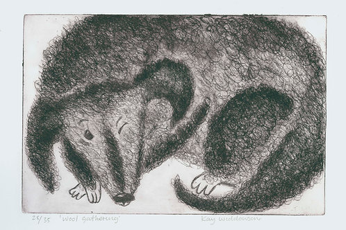 Wool Gathering - Aquatint and Drypoint Etching