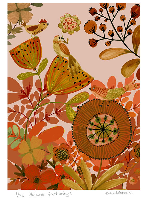 Autumn Gatherings - Limited Edition Colour Print