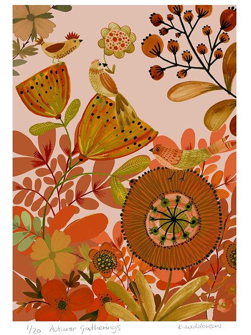 Autumn Gatherings - Limited Edition Colour Print