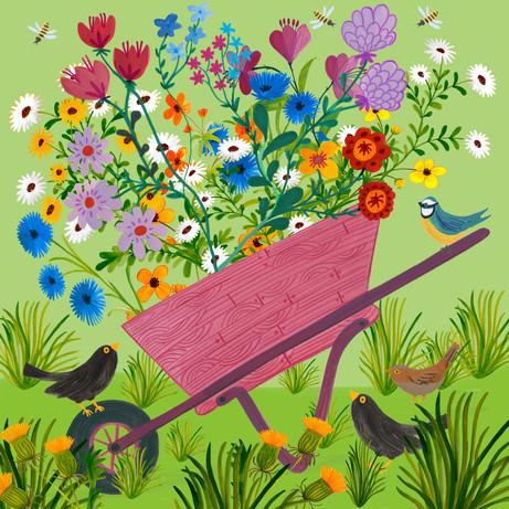 Wheelbarrow Flowers - Kay Widdowson.jpg