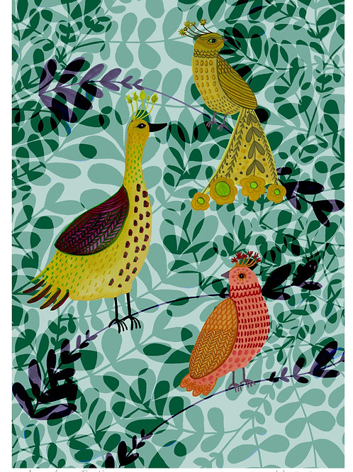 Fancy Birds - Limited Edition Colour Print