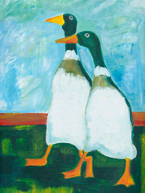Runner Ducks - Painting