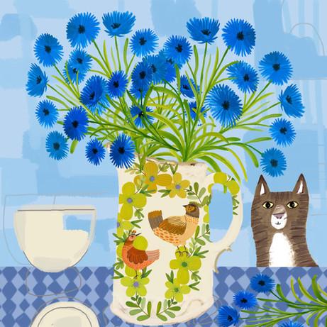Jug of Cornflowers - Kay Widdowson.jpg