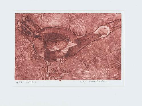 Honk! - Collagraph Print