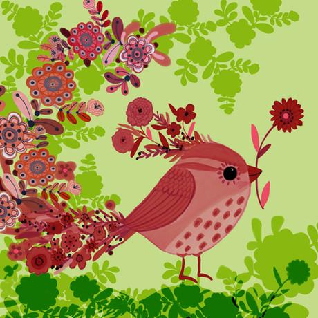 Pink Flower bird - Kay Widdowson.jpg