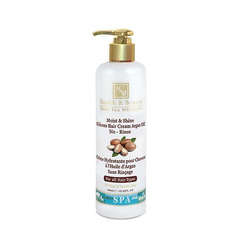 Revitalizační krém na vlasy s arganovým olejem pro zářivé vlasy - Bez oplachován
