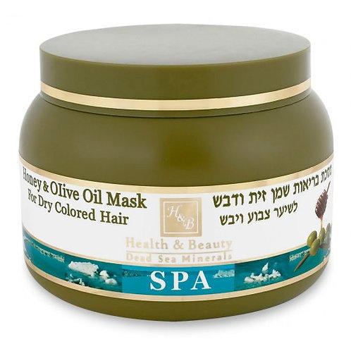 Luxusní maska na vlasy s olivovým olejem a medem