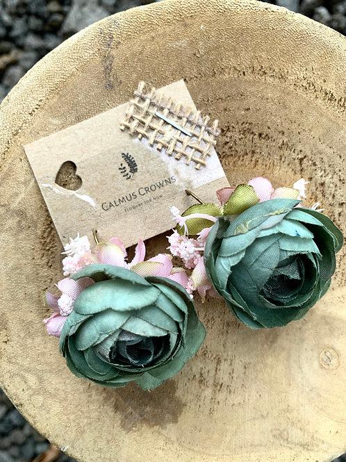 Květinové náušnice Kaki