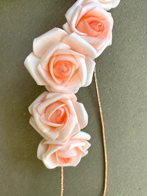 Meruňková elastická čelenka Roses
