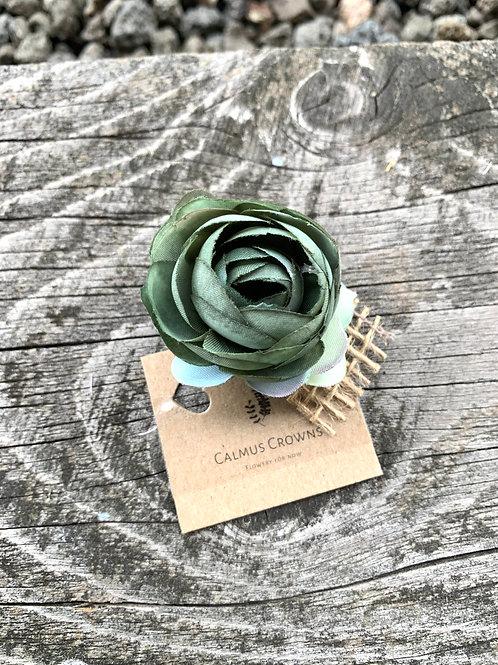 Květinová brož Kaki