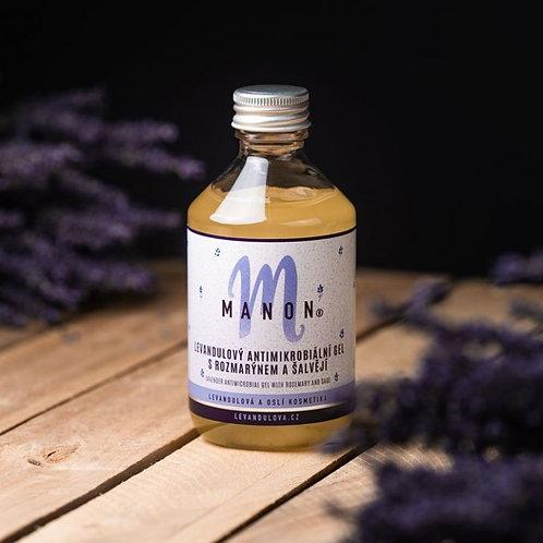 Levandulový antimikrobiální gel s rozmarýnem a šalvějí 250 ml