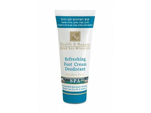 Osvěžující krém na nohy s deodorantem