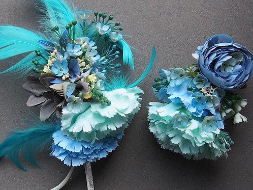 Svatební Vlasová Spona Turquoise (vpravo)