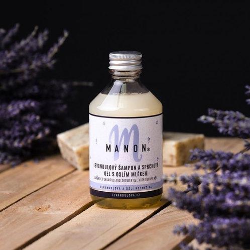 Levandulový šampon a sprchový gel s oslím mlékem