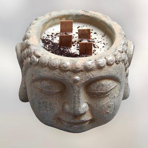 LIMITED - Meditační Sójová Svíčka Silver Buddha