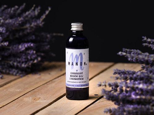 Relaxační masážní levandulový olej